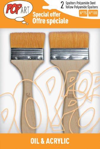 Pébéo 950750 Pochette de 2 Spalters Manche Longue Polyamide Doré