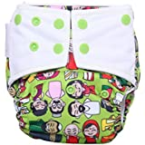 Superbottoms Cloth Diapers Plus Reusable All In One Diaper With 2 Organic Cotton Soakers And Dry Feel - Colors Of India