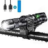LED Taschenlampe,Taktische Taschenlampe Super Hell 1000 Lumen USB Wiederaufladbare Taschenlampen, IP67 Wasserdicht Taschenlampe mit CREE XPG2 S3 Chip, 5 Licht-Modi für Outdoor camping/Wandern
