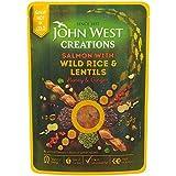 John Creations Ouest Riz Sauvage Saumon Et Lentilles 180G (Paquet de 6)