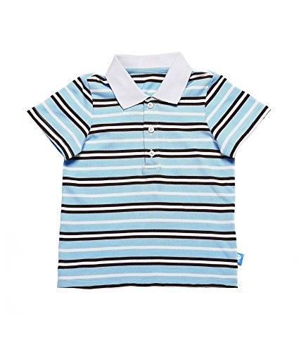 Oceankids Jungen Gestreiftes Polo Baumwoll Sommer Kinder Poloshirt Blau 2 Jahre (Kinder-fleece End Lands)