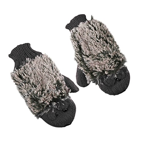 Kurz Damen Mädchen 3D Igel Stickhandschuhe Skihandschuhe Fausthandschuhe Handschuhe Herbst & Winter 4 Farben Süß & Warm für Outdoor Sport
