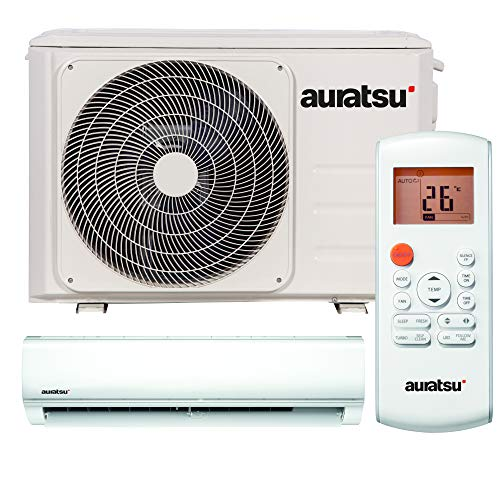 AURATSU AWX-09KTA Split Klimaanlage 2,6 kW 9000 BTU, für bis zu 40 qm, WiFi Ready Invert Klimagerät Split, A++ Kühlen, A+ Heizen, inkl. Montage-Set, Kältemittel R32, Fernbedienung
