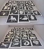 50 x Mini Schablonen (gemischt) für Glitzer Tattoos aus Schnitten / Sekunden / Unvollkommenheiten