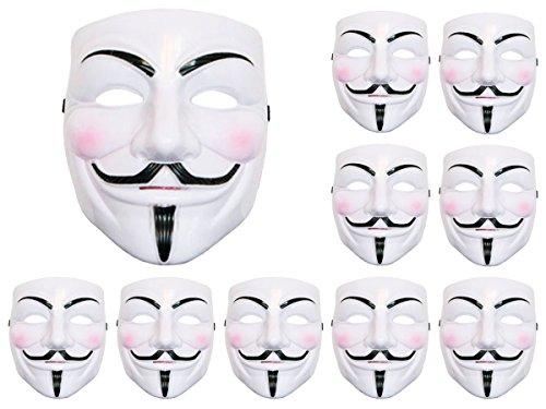 endetta Anonymous Anonym Horror Teufel Ghost Kostüm Halloween Cosplay (Alsino mas-05) A elastischer Gurt, leicht zu tragen und passend für Erwachsene und speziell (Anonyme Kostüm Halloween)