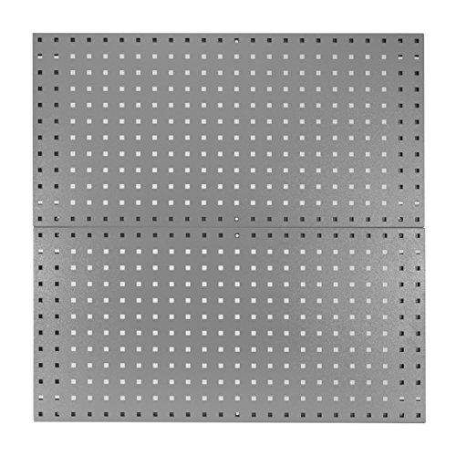Kennedy Verarbeitung 50002ugy Duschschiebetür Metall Werkzeug Board Set als der Garage Stecktafel und Lagerung Organizer, Utility grau (Kennedy Werkzeug-boxen)