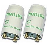 2 Stück S2 Starter 4-22 Watt Reihenschaltung - Philips