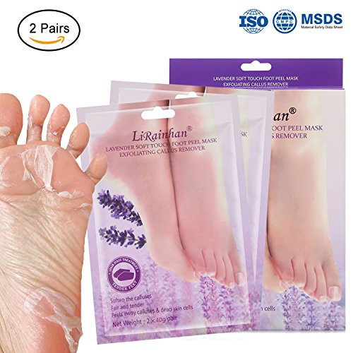 2 Pairs Exfoliant Foot Peel Mask for Soft Feet in 3-7 Days, Exfoliating Booties for Peeling Off Calluses & Dead Skin, Baby Your feet, for Men & Women