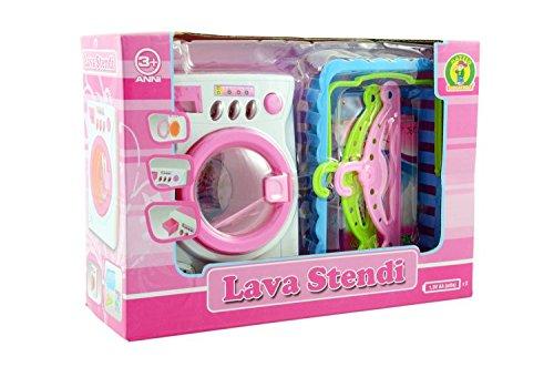 Lena - Set de Lavanderia 51025001. Lavadora, percha y cesto.