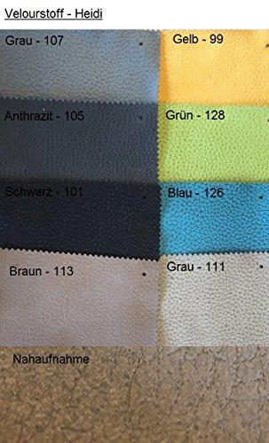 Ecksofa Bond3 mit Bettfunktion Schlaffunktion Wohnlandschaft Couch U-Form 01628 (Ottomane wie abgebildet, Farbänderung nach Wunsch) - 6