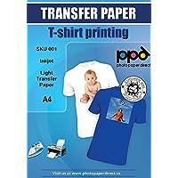 PPD de inyección de tinta papel de transferencia de hierro en camisetas de blancas y claras 10 hojas PPD-1-10