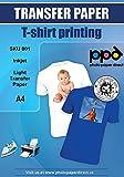 PPD A4 Papel de transferencia de tinta para camisetas de blancas y claras-10 hojas