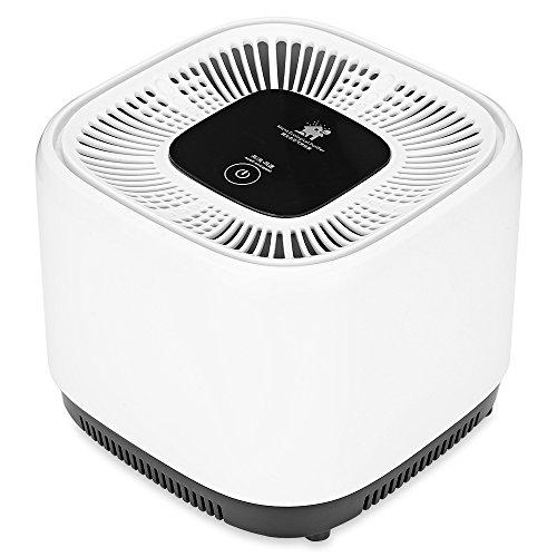 YUHUANG Luftreiniger, geeignet für Home-Office-Auto-Negativ-Ionen-Sterilisation, beseitigen Rauchgeruch Bakterien unter 3 Schichten Filter 10㎡,United