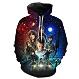 RJHWY 3D Hoodie Sweatshirt Unisex Pullover Kapuzenjacke Kleidung Mantel HD Anime Top (XXS-3XL) Stranger Things/Borderlands