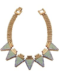 Mawi London Deco Triangle Rose Gold Plated Necklace with Swarovski Crystals of 43.5 cm