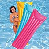 #7: Intex Inflatable Glossy Float Swimming Mat - Water Aqua Fun (Assorted Colors) Neon Frost Air