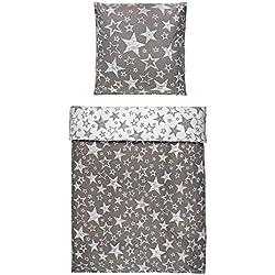 4-Teilig Microfaser Flausch/Fleece Wende Bettwäsche taupe/weiss GRATIS 1x SCHAL GRATIS 2x 135x200 Bettbezug + 2x 80x80 Kissenbezug , weich und kuschelig