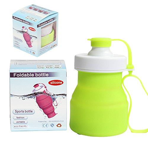 Sidiou Group Protein Fitness-Shaker BPA frei faltbare Outdoor-Reisen Silikon Wasserflasche für Sport 520ml verschiedene Farben (blau) grün