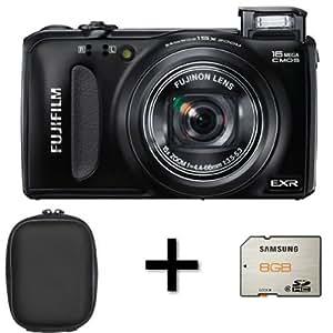 Fujifilm FinePix F660EXR Digital Camera - Black + Case and 8GB Memory Card (16MP EXR-CMOS Sensor, 15x Optical Zoom) 3 inch LCD Screen