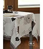 Nappe Anti-Tache Rect. 148x200 cm 100% Polyester Collection Flaurence, Home and Déco