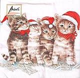 Ambiente - Servietten - Singing Cats - Weihnachten / Katzen / Musik