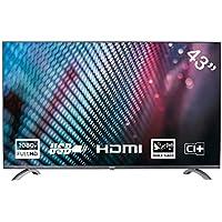 Yasin YT43FTB1 Téléviseur 43 Pouces (108 cm) LED TV (Full HD, Triple Tuner, CI+, Lecteur multimédia Via USB 2.0)
