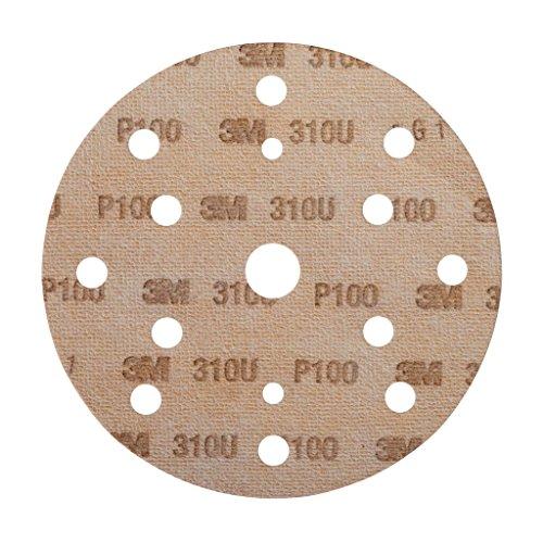 3M Hookit Schleifscheibe 310U, 150 mm, P100, LD861A, 100 Stück / Karton