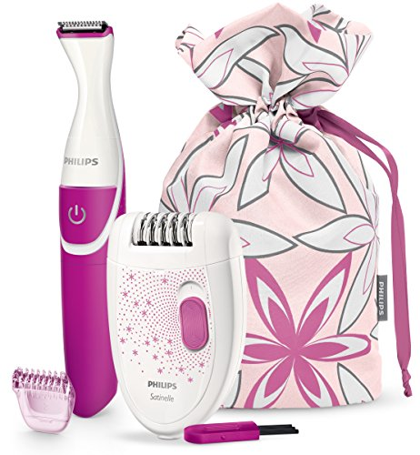 Philips HP6548/00 - Epilierer und Bikini-Trimmer mit Limited-Edition-Reisebeutel