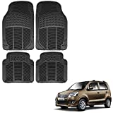 #4: Vheelocityin Maruti Suzuki Wagon R 1.0 New Car Mat Black / Black rubber Foot Mat For Maruti Suzuki Wagon R 1.0 New