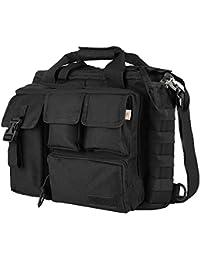 "TOOGOO(R) Pro-multifonctions Hommes militaire en plein air Nylon sac a bandouliere sac a main sac a main grand suffisant pour 14 ""ordinateur portable / Sony / Canon / Nikon / Olympus / iPad Noir"