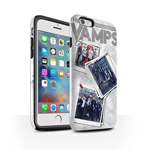 Officiel The Vamps Coque / Brillant Robuste Antichoc Etui pour Apple iPhone 6+/Plus 5.5 / Pack 5Pcs Design / The Vamps Livre Doodle Collection Collage