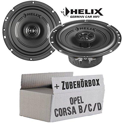 Opel Corsa B/C/D - Lautsprecher Boxen Helix - F 6X - 16cm Koax Auto Einbausatz - Einbauset