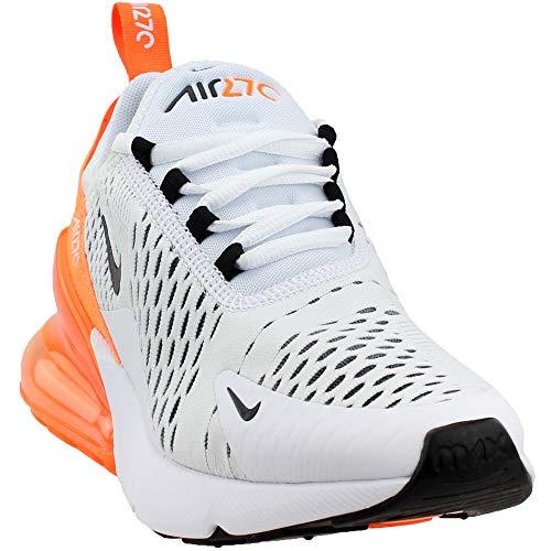 Nike Damen W Air Max 270 Sneakers Mehrfarbig (White/Black/Total Orange 001) 40 EU