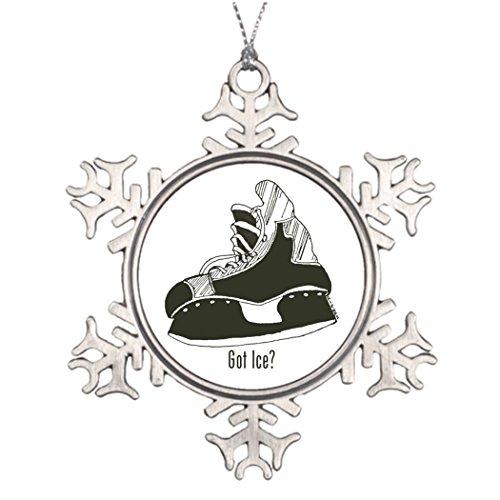 Tee Popo personnalisé Décoration d'arbre de Noël Ice Got hockey sur glace Skate Flocon de neige de Noël Ornement