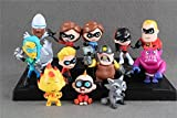 #5: The Incredibles 12 Pcs Toy Set Violet Parr, Dash, Jack-Jack Parr, Elastigirl, Mr.Incredibles, Syndrome, The Underminer Action Figure Toys