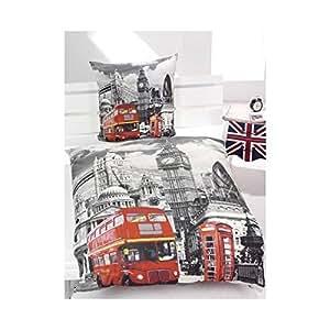 housse de couette reversible london bus. Black Bedroom Furniture Sets. Home Design Ideas