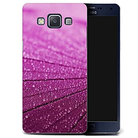 Mobile Case Mate Samsung Galaxy A5 A500F clip on Silicone Coque couverture case cover Pare-chocs + STYLET - purple lumber pattern (SILICON)