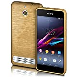 Sony Xperia E1 Hülle Silikon Gold [OneFlow Brushed