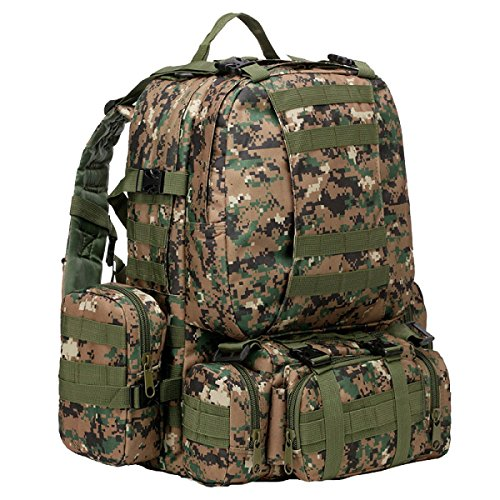 Yy.55Lf Outdoor-Klettertasche Multifunktionsbeutel Sie Können Miteinander Verbunden Taschen Schultern Werden Militär Taktische Tarnung Rucksack. Multicolor C