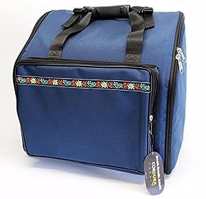 Steirische harmonika Tasche Rucksack DELUXE-PRO Edelweiss Blau 4-reihig