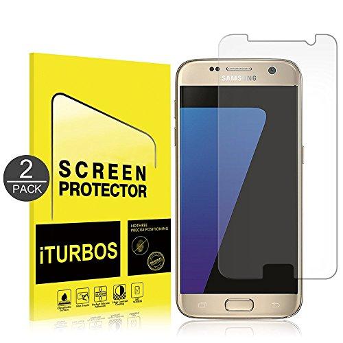 [2-Pack] Galaxy S7 Protection écran , iTURBOS - Film Protection d'écran en Verre Trempé Glass Screen Protector Vitre Tempered pour Samsung Galaxy S7 - Dureté 9H, Ultra-mince 0.25 mm, 2.5D Bords Arrond