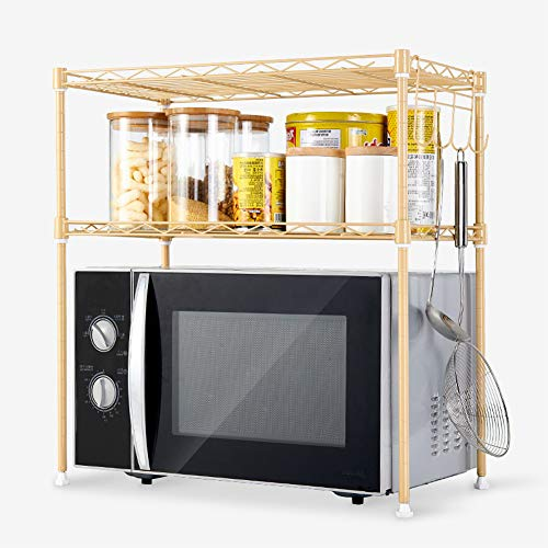Shelf Küchenregal Mikrowelle Regal 55 * 30 * 55 cm zweistöckigen Lagerregal Export Qualität Haushalt Lagerregal