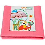 OYO Baby Waterproof Bed Protector for Just Born Babies Salmon Rose, Small, Salmon Rose (70 cm x 50 cm)