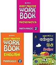 Arihant Class 2 Workbooks - Math Magic, English. Hindi Rimjhim (Set of 3 books)