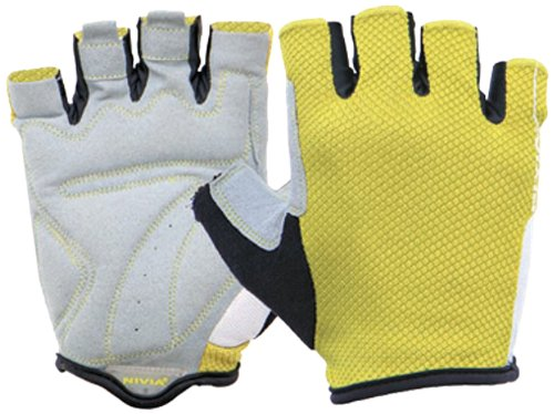 Nivia Cromo Gym Gloves, Extra Large (Yellow/White)  available at amazon for Rs.925