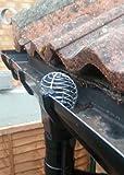 Laubfang Laubschutz Dachrinne Laubfangsieb Laubstop Regenrinne 100-120mm Verzinktem Stahl