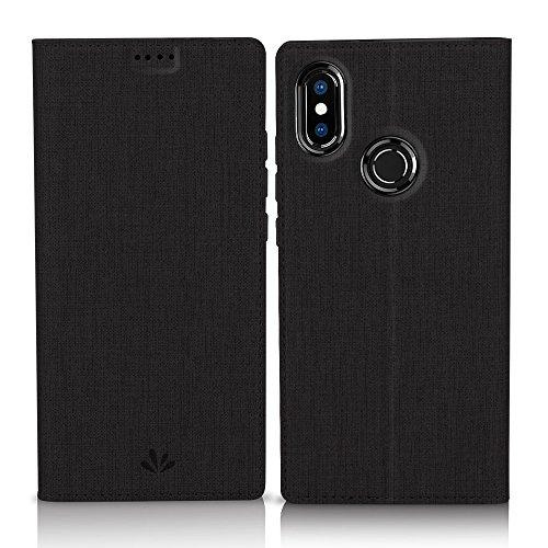 Eastcoo Xiaomi Mi A2 Hülle, Flip Folio Wallet Leder Smart Case Tasche Schutzhülle Handyhülle mit [Wake up][Standfunktion][Magnetic Closure] für Xiaomi Mi A2 (Mi A2, Black)
