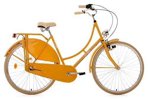 KS Cycling Damen Fahrrad Hollandrad Tussaud 3 Gänge RH 54 cm, gelb, 28 Zoll, 327H