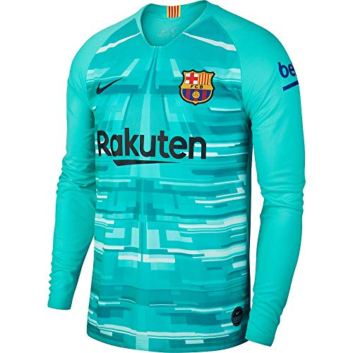 Brand new, official Barcelona Home Goalkeeper Shirt for the 2019 2020 season. This is the new mens Barcelona goalkeeper shirt which is available to buy online in a full range of adult size S, M, L, XL, XXL, XXXL and is manufactured by Nike.Add the na...