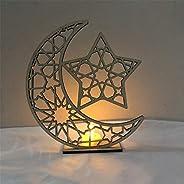 Saweky Wooden Ornament Hollow Fretwork Laser Cutting WoodCarving Ornaments Wood Slice Gift Eid Al Adha Mubarak